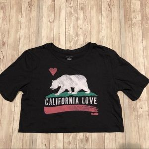 Billabong California bear cropped graphic tee